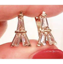 Load image into Gallery viewer, Eiffel Tower Dreams Earrings