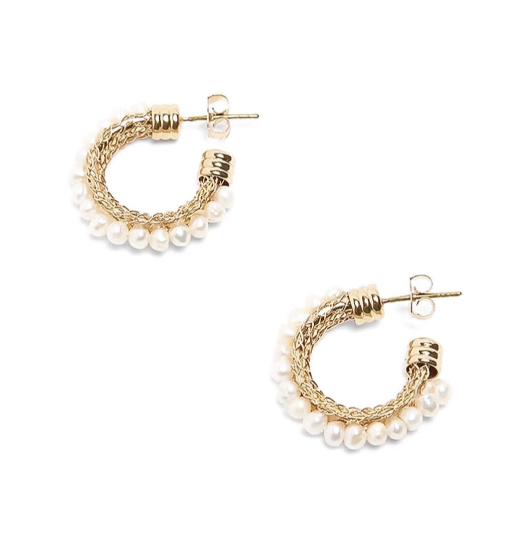 Constance Pearl Hoops