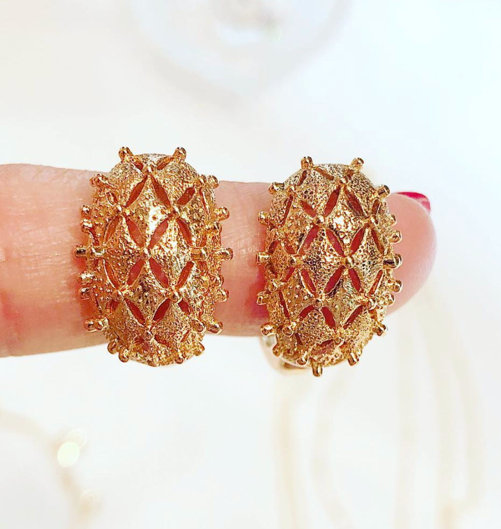 Prickly Basket Earrings