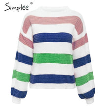 Load image into Gallery viewer, Striped Knitted Pullover
