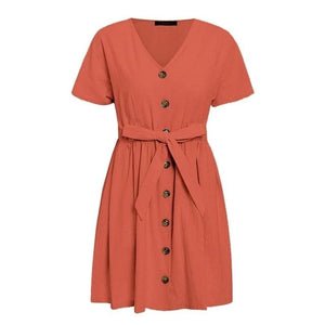 Vintage Button Dress