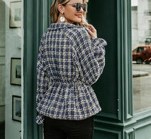 Load image into Gallery viewer, Plaid tweed jacket