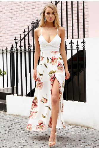 Backless Split Dress