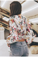 Load image into Gallery viewer, V-Neck Bohemian Floral Tops