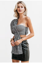 Load image into Gallery viewer, Single Shoulder Plaid Cami