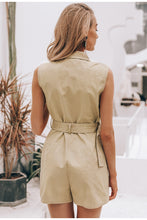 Load image into Gallery viewer, Khaki Cotton Jumpsuit