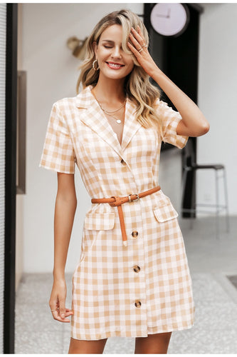 Elegant Plaid Dress