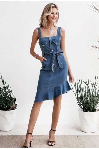 Casual Denim Bodycon Dress