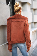 Load image into Gallery viewer, Faux suede jacket