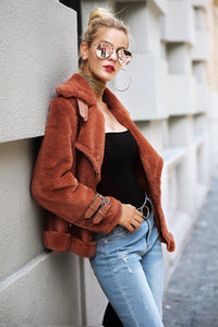 Faux suede jacket