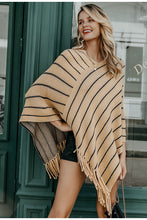 Load image into Gallery viewer, Tassel Stripey Cloak