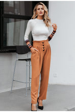 Load image into Gallery viewer, Ruffled high waist pants