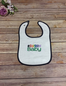 Terry Cloth Bib, #Rainbow Baby - Rainbow Babies, LLC