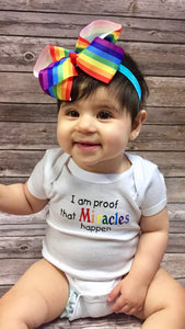 Short Sleeve Onesie, I am proof that Miracles happen - Rainbow Babies, LLC