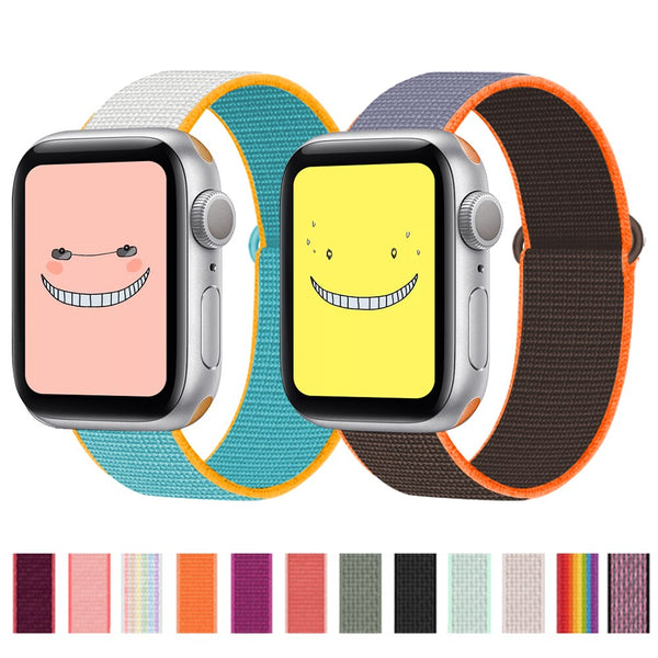 Nylon Strap For Apple watch band 38mm - 40mm watchband replacement Sport Loop bracelet iWatch series 6/SE 5/4/3/2/1