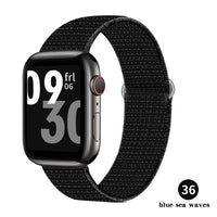 Nylon Strap For Apple watch band 44mm 40mm 38mm 42mm 4 3 2 1 watchband replacement Sport Loop bracelet iWatch series 6 SE 5