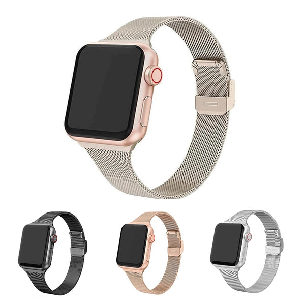 Milanese Loop Strap For Apple Watch 6 5 4 Band Stainless Steel 38mm 42mm 40MM 44MM Metal Bracelet for iWatch Series Accessories