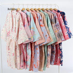 17Colors Cotton Woman Kimono Pajamas Yukata Japanese Style Floral Loose Long Sleepwear NightGown Cardigan Leisure Bathrobe