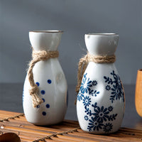 Japanese Ceramics Sake Pot Cups Set Vintage Spirits Hip Flasks Home Kitchen Bar Flagon Liquor Cup Bottle Drinkware Creative Gift
