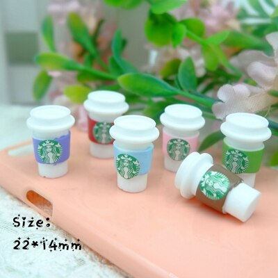 Kawaii Sake Drink Coffee cocktail flatback resin cabochon for phone deco hair bow diy