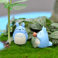 ZOCDOU 1 Piece Blue Tonari No Totoro Singer Japan Japanese Cartoon Anime Cat Model Statue Crafts Ornament Miniatures Home Decor