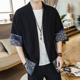 Men Cardigan Streetwear Yukata Male Shirt Haori Mens Kimono Shirt Japanese Kimono Traditional Japanese Samurai Clothing 4XL 5XL