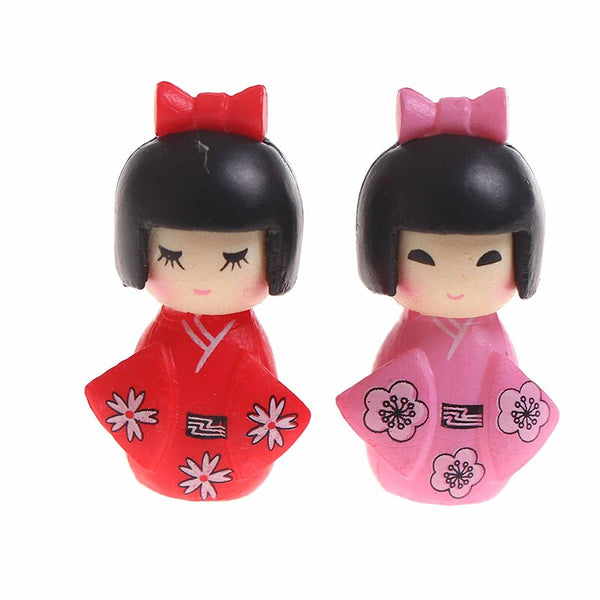 1PCS Japanese Kimono Little Girl Fairy Garden Miniatures DIY Ornament Decoration