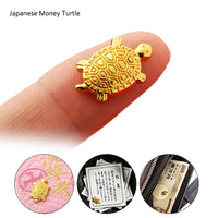 Japanese Money Turtle Asakusa Temple Small Golden Tortoise Guarding Praying Family Ornaments For Fortune Home Furnishing