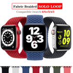 Braid Solo Loop Nylon fabric Strap For Apple Watch band 44mm 40mm 38mm 42mm Elastic Sports Bracelet for iWatch Series 6 SE 5 4 3