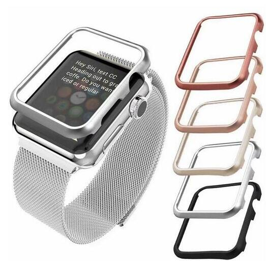 high quality Case cover For Apple Watch band 42mm 38mm 40mm 44mm for iwatch series se 6 5 4 3 2 1 metal frame protective Case