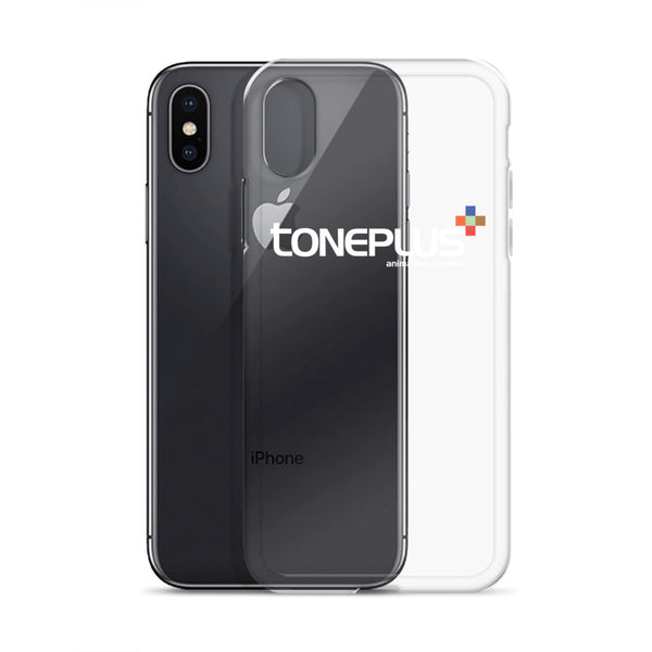 Toneplus Printed White Logo Clear iPhone Case