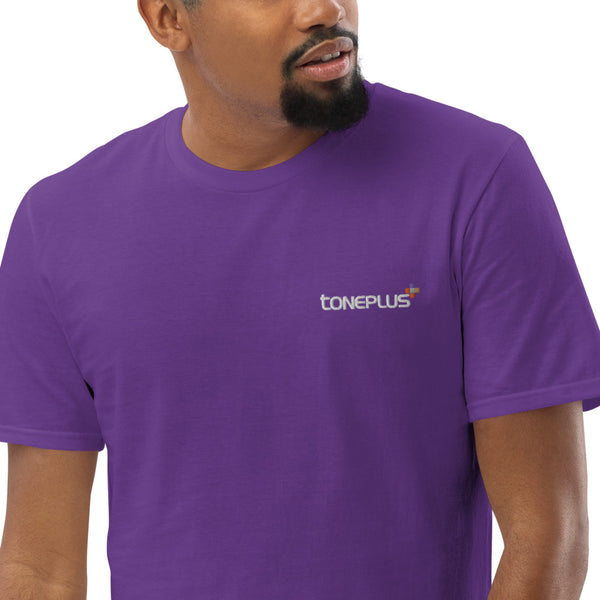 20 colors to choose: XL-2XL-3XL Unisex Lightweight T-Shirt White Toneplus Embroidered Logo | Anvil 980