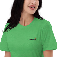 20 colors to choose: S-M-L Unisex Lightweight T-Shirt Black Toneplus Embroidered Logo | Anvil 980