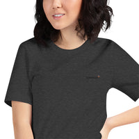 47 colors to choose: Toneplus XS-S Short-Sleeve Unisex T-Shirt Black Embroidered Logo | Bella + Canvas 3001