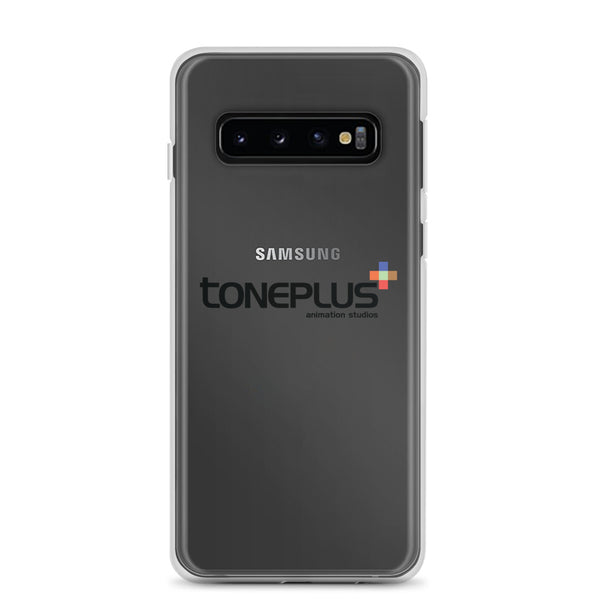 Toneplus Printed Black Logo Samsung Clear Case