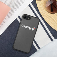 Toneplus printed White logo Biodegradable phone case