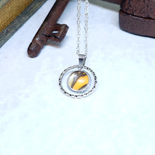 Load image into Gallery viewer, Monarch Butterfly Small Circle Necklace - The Steampunk Butterfly