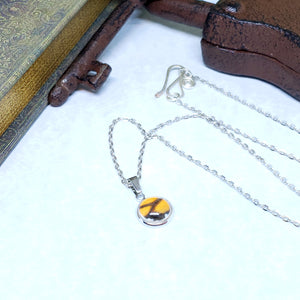 Monarch Butterfly Tiny Necklace - The Steampunk Butterfly