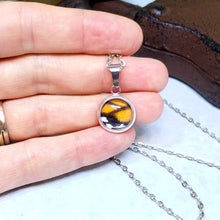 Load image into Gallery viewer, Monarch Butterfly Tiny Necklace - The Steampunk Butterfly