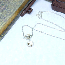 Load image into Gallery viewer, Mother of Pearl Butterfly Charm Necklace - The Steampunk Butterfly