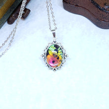 Load image into Gallery viewer, Madagascan Sunset Moth Victorian Style Necklace - The Steampunk Butterfly