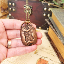 Load image into Gallery viewer, Electroformed Seraphinite Cabochon Necklace with Bronze Chain - The Steampunk Butterfly