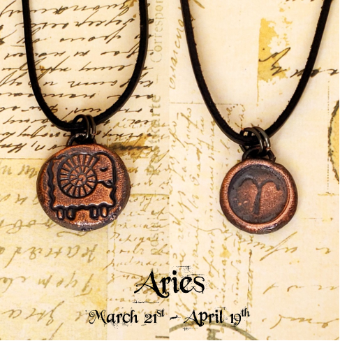 Zodiac and Horoscope Charm Necklace - Aries