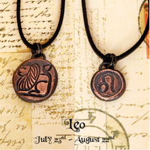 Load image into Gallery viewer, Zodiac and Horoscope Charm Necklace - Leo - The Steampunk Butterfly
