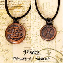Load image into Gallery viewer, Zodiac and Horoscope Charm Necklace - Pisces