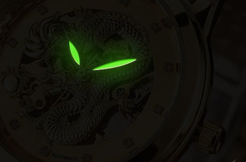 3D Dragon Watch Luminous Hands
