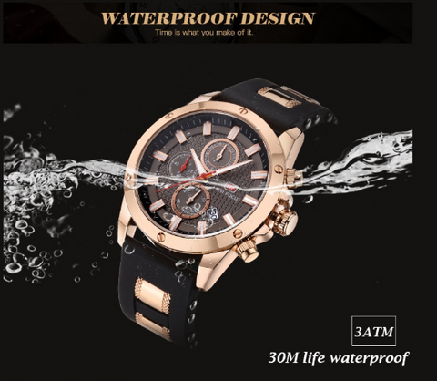men's precision military watch waterproof