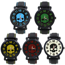 Load image into Gallery viewer, All colors of Silicone Skull Watches