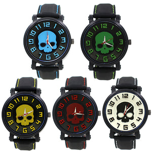 All colors of Silicone Skull Watches