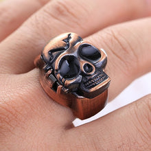 Load image into Gallery viewer, Skull finger ring watch on finger